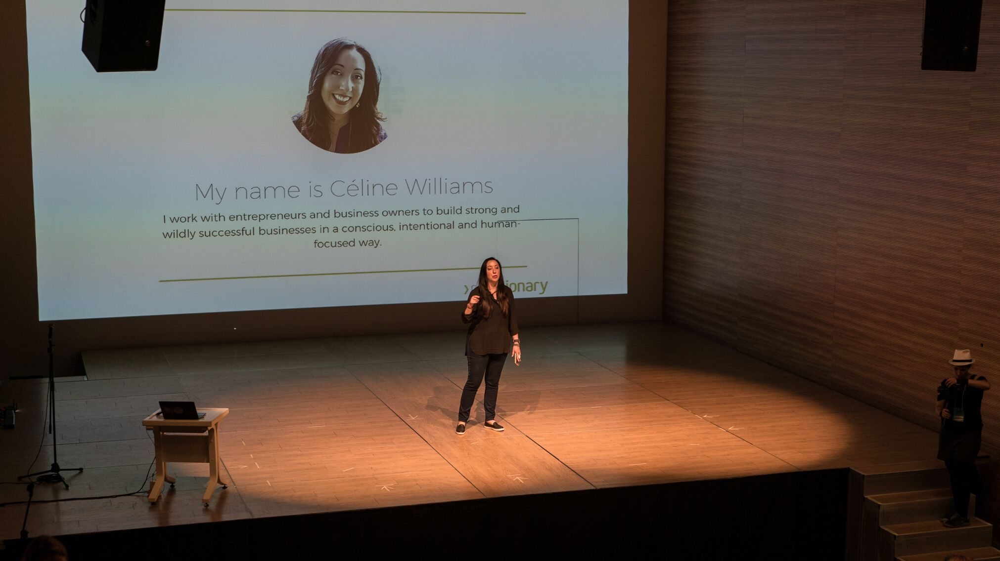 Céline Williams speaking at Ryerson University